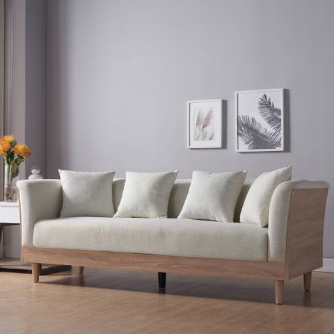 Carson Carrington Idbacka Modern Cream Sofa