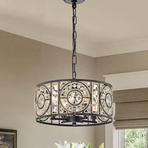 Rowsen 4-Light Antique Bronze Metal Chandelier