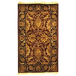 Safavieh Handmade Classic Jaipur Burgundy/ Black Wool Rug (3' x 5')