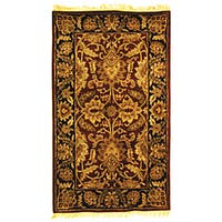 Safavieh Handmade Classic Jaipur Burgundy/ Black Wool Rug - 3' x 5'
