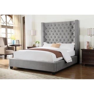Best Master Furniture Jamie Upholstered High Profile Bed