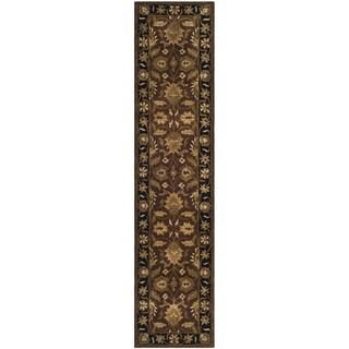 Safavieh Handmade Classic Jaipur Rust/ Black Wool Runner (2'3 x 10')