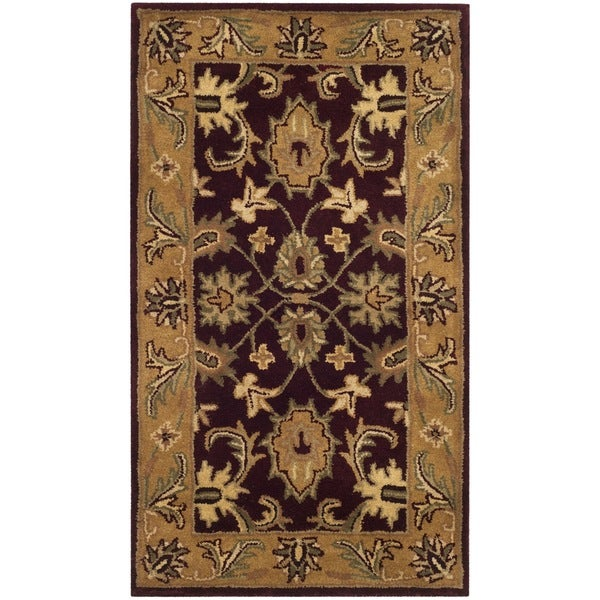 Safavieh Handmade Classic Regal Burgundy/ Gold Wool Runner (2'3 x 4')