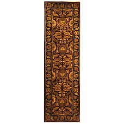 Safavieh Handmade Classic Regal Burgundy/ Gold Wool Runner (2'3 x 8')