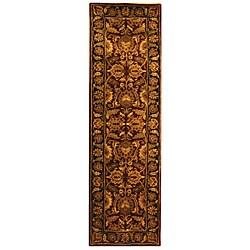 Safavieh Handmade Classic Regal Burgundy/ Gold Wool Runner (2'3 x 12')