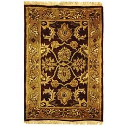 Safavieh Handmade Classic Regal Burgundy/ Gold Wool Rug (3' x 5')