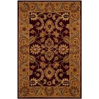Safavieh Handmade Classic Regal Burgundy/ Gold Wool Rug - 3' x 5'