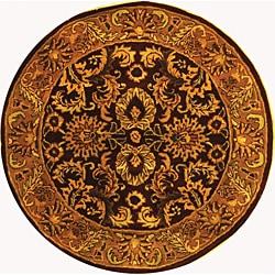 Safavieh Handmade Classic Regal Burgundy/ Gold Wool Rug (3'6 Round)