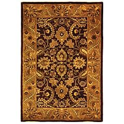 Safavieh Handmade Classic Regal Burgundy/ Gold Wool Rug (4' x 6')