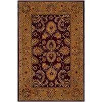 Safavieh Handmade Classic Traditional Burgundy / Gold Wool Rug - 5' x 8'