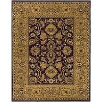 Safavieh Handmade Classic Regal Burgundy/ Gold Wool Rug - 6' x 9'
