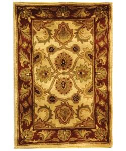 Safavieh Handmade Classic Jaipur Ivory/ Red Wool Rug - 2' X 3' - Thumbnail 0