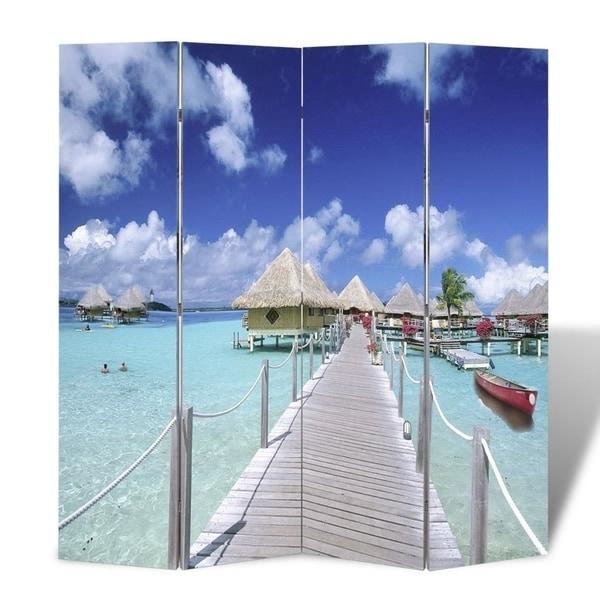 "Folding Room Divider 63""x66.9"" Beach"