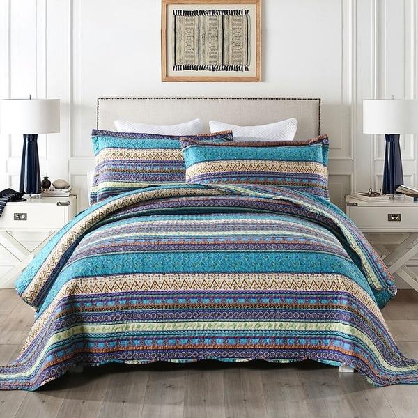 Purple Bohemian Quilt Bedspread Set. Opens flyout.