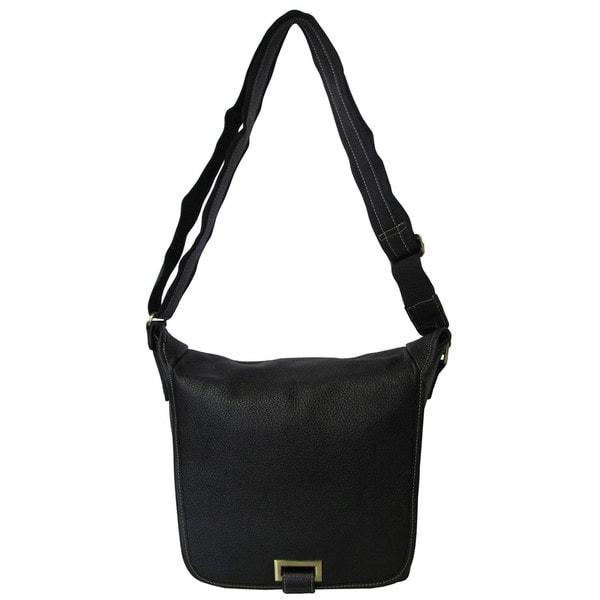 Amerileather Flapover Crossbody Messenger Bag