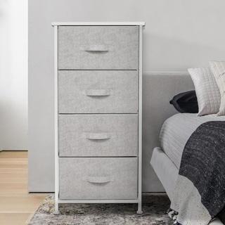 Kinbor Fabric Dresser Drawer, Chest Cabinet w/ Easy Full Fabric Bins, Organizer Unit for Bedroom, Entryway, Closet