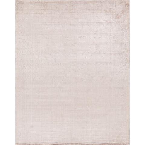 "Silk Floral Modern Area Rug Handmade Contemporary Carpet - 7'8"" x 9'10"""