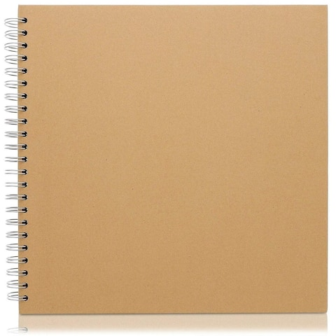 Hardcover Kraft Blank Page Scrapbook Photo Album Notebook, 40 Sheets, 12x12""