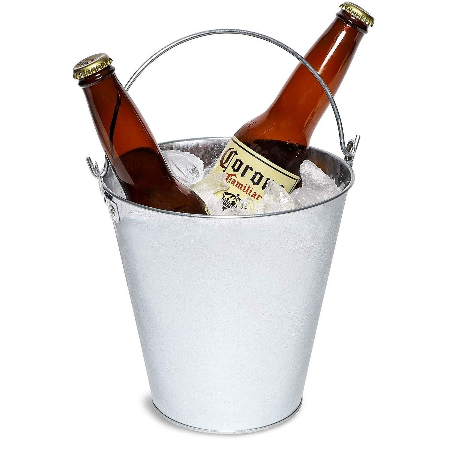 3 Pack Galvanized Metal Ice Bucket Pails For Beer Drinks Party Decorations 7 Overstock 30114781
