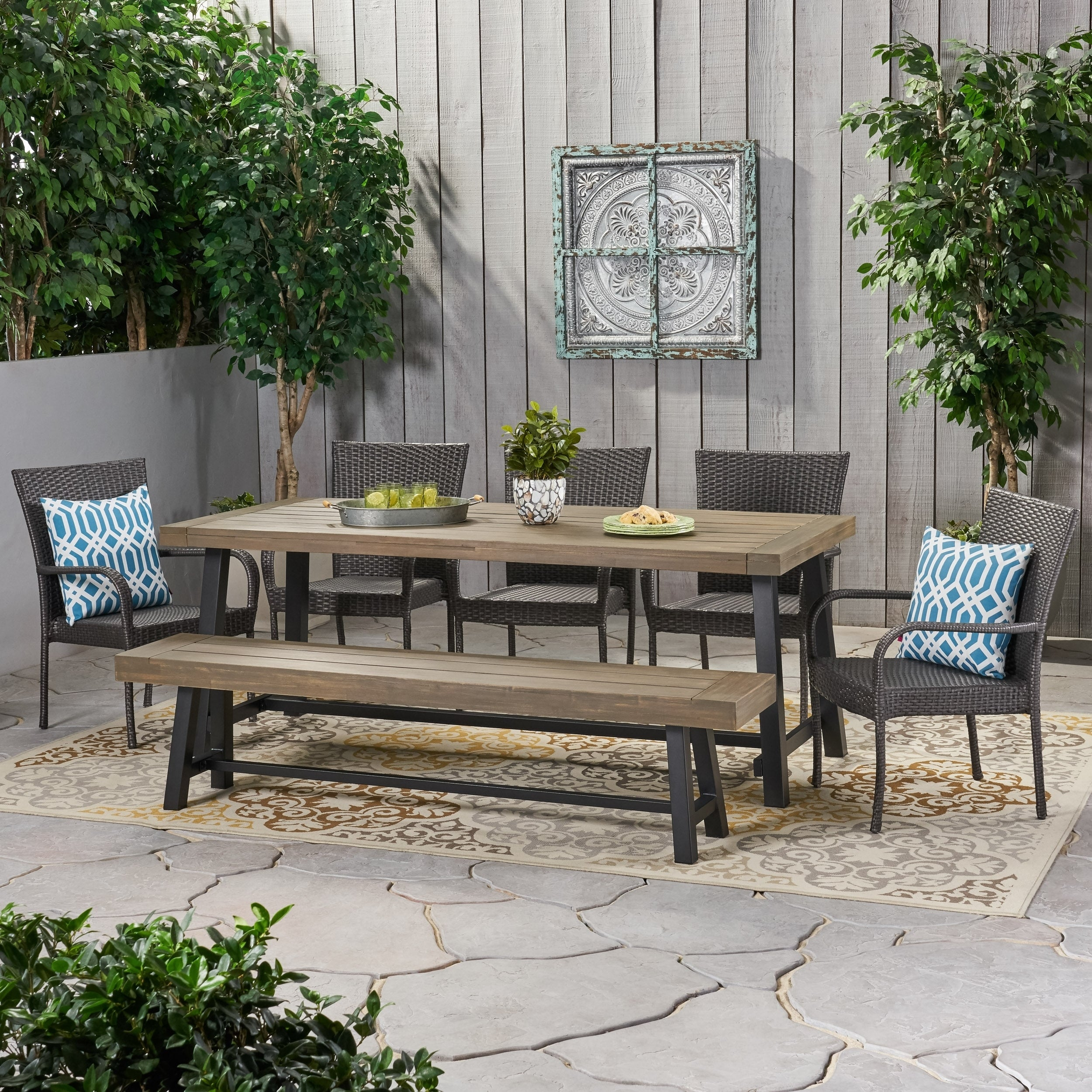 Lyons Outdoor Rustic Acacia Wood 8