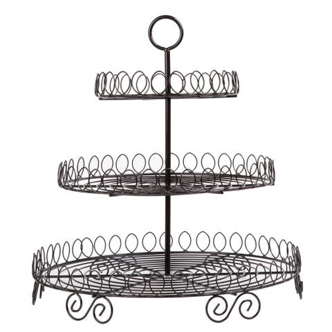 Creative Home Iron Works Black 3-tier Cupcake Stand