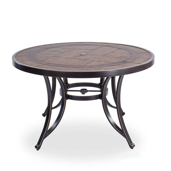 """48"""" Round Dining Table Outdoor Patio Garden Furniture"""