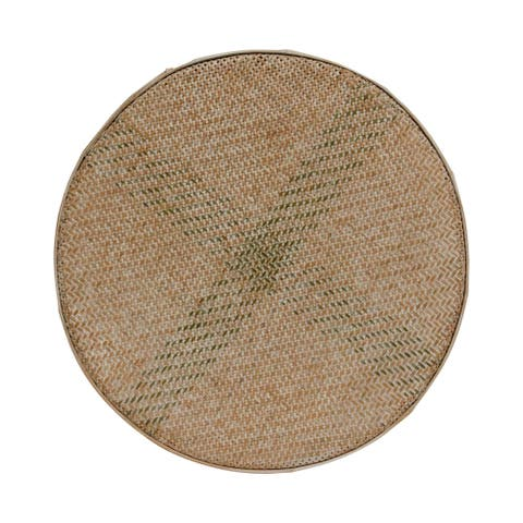 Lily's Living Large Handmade Bamboo Wall Jade Disc Décor, White Wash, 24 Inch Diameter