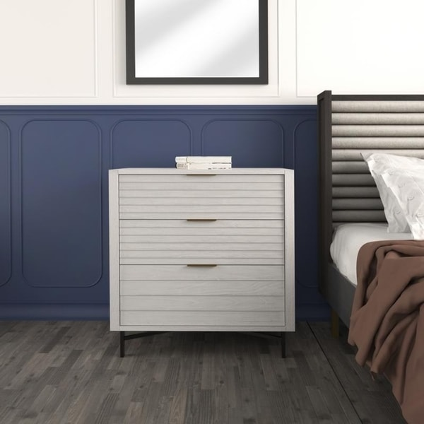 Hopper Studio Portland White 3 Drawer Chest