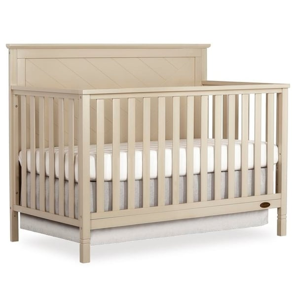 Dream On Me Skyline 5 in 1 Convertible crib. Opens flyout.