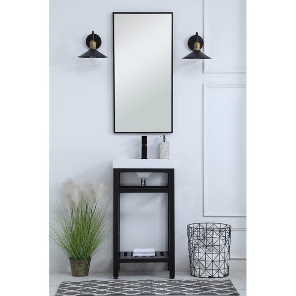 Indigo Home Bathroom Metal Base Vanity
