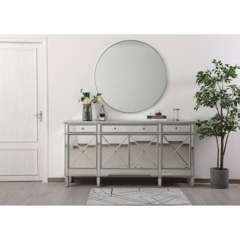 """Indigo Home 72"""" Mirrored Credenza in silver"""