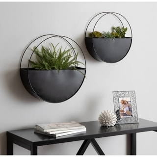 Link to Kate and Laurel Leni Modern Indoor Planter - 2 Piece Similar Items in Decorative Accessories