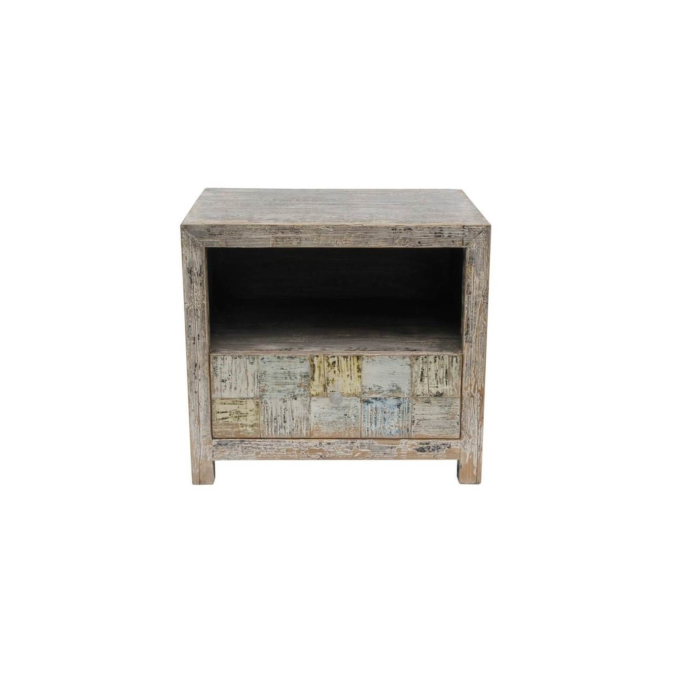 Shop Lily's Living Reclaimed Wood Shandong Checkerboard Side Table