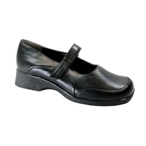 PEERAGE Misty Extra Wide Width Casual Leather Mary Jane Style Shoes