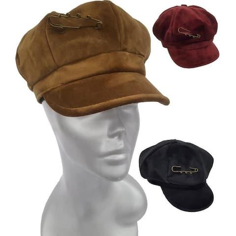 Women's Velvet Cadet Cap Cut/Sewn by Hand fall winter hat