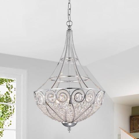 Silver Orchid Astor 3-light Crystal Chandelier