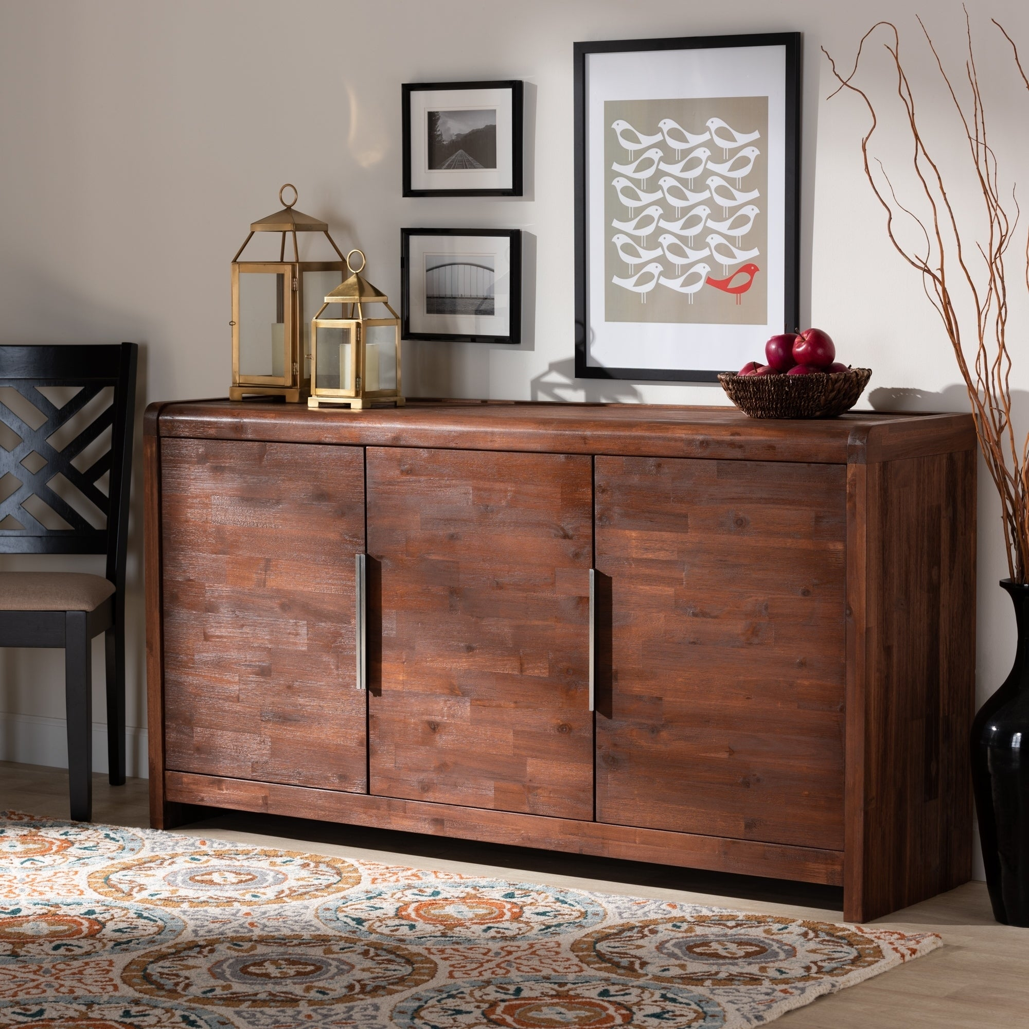 Shop Black Friday Deals On Torres Modern And Contemporary Brown Oak Finished Sideboard Buffet Overstock 30116567
