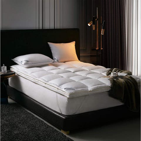 HGOOSE - Down Top Hungarian Featherbed - White