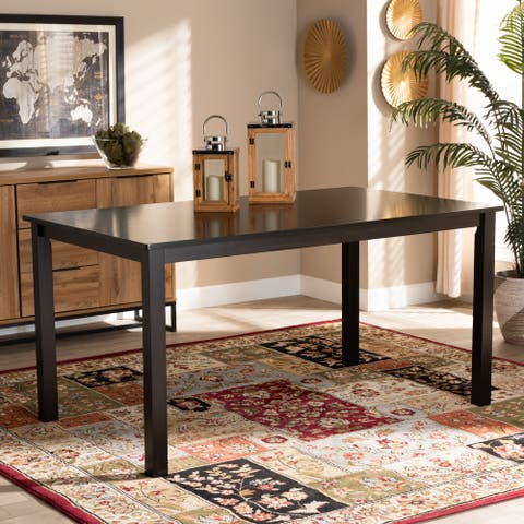 Eveline Modern and Contemporary Espresso Finished Wood Dining Table