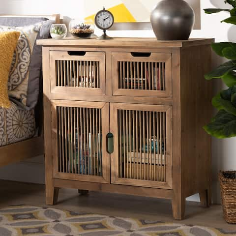 Clement Rustic Transitional Accent Storage Cabinet