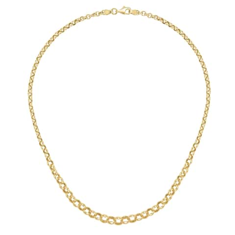 """Forever Last 10K Gold Bonded over Silver 17""""Graduated Rolo Necklace"""
