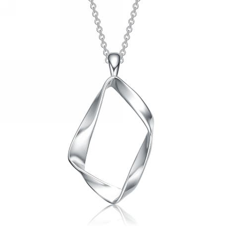 Collette Z Sterling Silver Twisted Halo Necklace