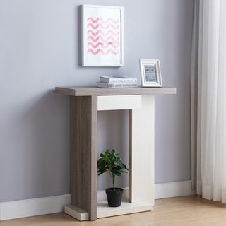 Furniture of America Peggy Contemporary White Two-Tone Console Table