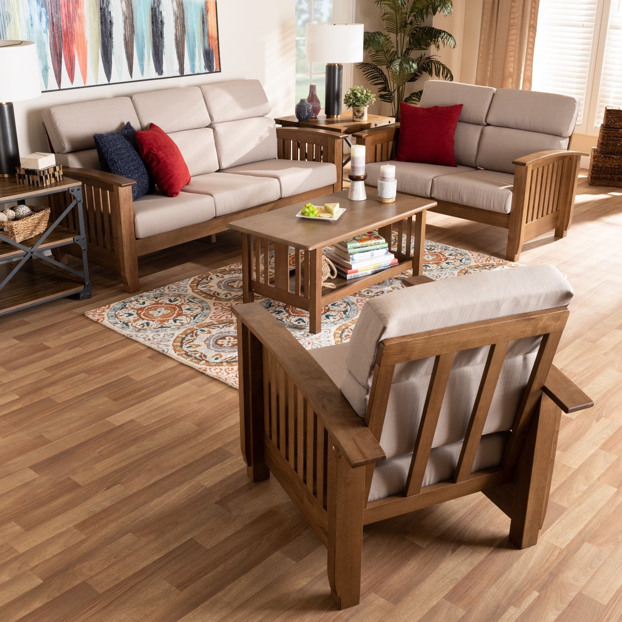 Copper Grove Shoys Mission-style 3-piece Living Room Set - On Sale - Overstock - 30116925