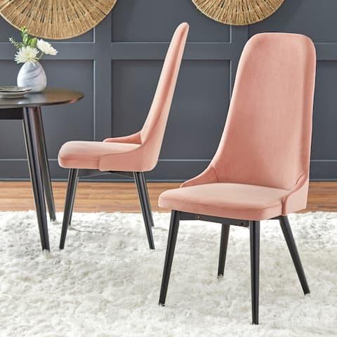 Simple Living Porto High Back Velvet Dining Chair (Set of 2)