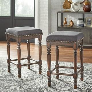 Link to Lifestorey Grafton Turned Leg Counter Stool (Set of 2) Similar Items in Dining Room & Bar Furniture