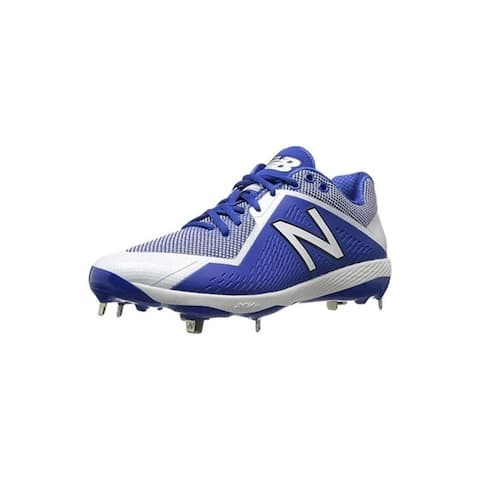 New Balance Mens 4040 V4 Metal Synthetic Baseball Cleats Royal/White - Size 12