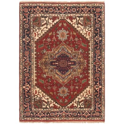 Hand-knotted Serapi Heritage Red Wool Rug