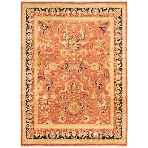 Hand-knotted Pako Persian 18/20 Copper Wool Rug - 10'2 x 13'9