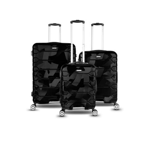 Gabbiano Gabbi Collection 3 Piece Hardside Spinner Luggage Set